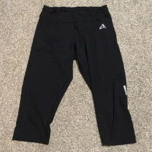 Adidas black tights size M